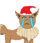 Christmas eEVEe lol sorry for the terrible pic!!!! by teengohan187