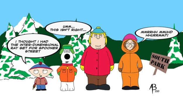 South Park/Family Guy mashup by abraun