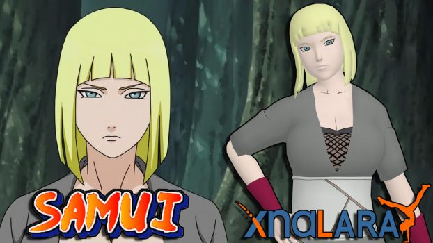 Naruto Custom Model - Samui FOR XPS by ASideOfChidori