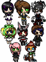 Free Chibis (Come get one!) by TinyFurrTails