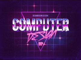 80's Style Text Mockups by designercow