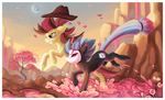 Race through the pink falls by griffsnuff