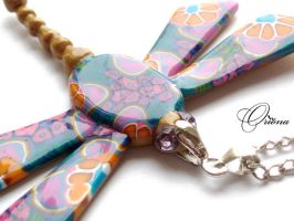 """Pendant """"Dragonfly"""" 2 by OrionaJewelry"""