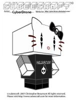 Cubeecraft- Hello Goth Kitty by CyberDrone