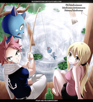 Natsu and Lucy Cover Fairy Tail 478 by Maxibostero