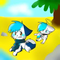 :AT: SonicIce and Andy by Cibibot