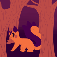 a huge squirrel in the tiny forest by CaptainLaylie