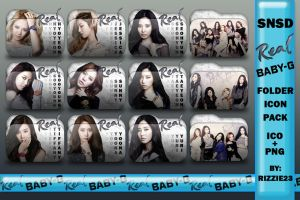 SNSD Real Baby G Folder Icon Pack by Rizzie23