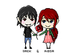 Pixel: Jack and Rosa. by hyokka