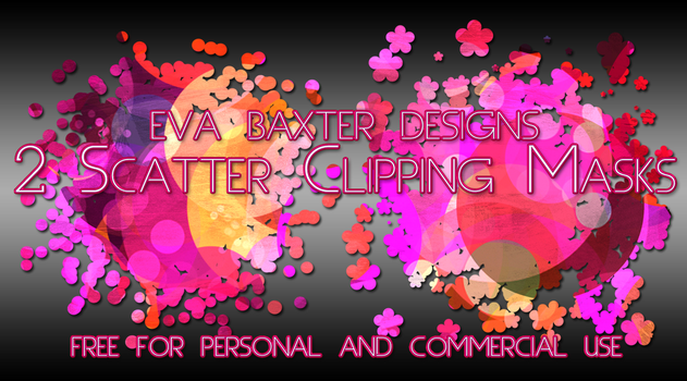 Eva Baxter Designs - Scatter Clipping Masks by EvaTakesNoPrisoners