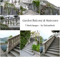 Garden Balcony and Staircases by XiuLanStock