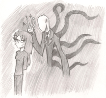 Slen and Slenderman by AmbiguouslyAwesome1