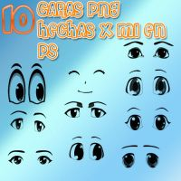 caras png by rubyok