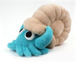 Omanyte Plush by SewnRiver