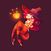 Pumpkin Queen by GusDraws
