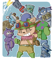 Yordles of doom by Ninemeaw