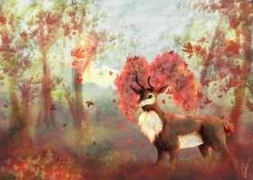 Autumn Sawsbuck by AnimeMan90