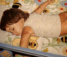 In bed with Maya the bee by WattsHanna