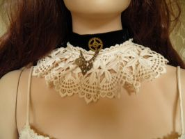 Steampunk-Victorian choker PCCH8b by JanuaryGuest