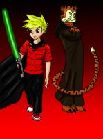 Calvin and Hobbes Star Wars by mangaturtle