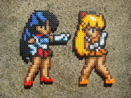 Perler: Sailor Scouts by PhishRitzy