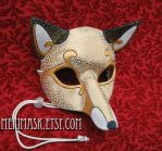 Ivory White Venetian Fox Mask by merimask