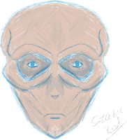 Sketched Alien Head v2 by StaticRed