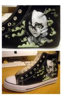 Ulquiorra shoes - In progress by i-scene-death