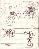 Megamans death first page by MarianoTvw