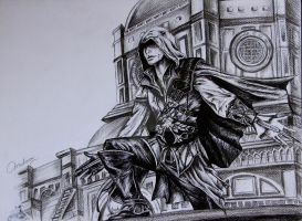 Assasin's Creed - Ballpoint Sketch by Mahoor18