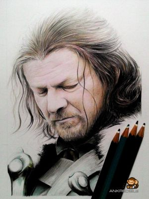 Ned Stark - Game of Thrones (Color Pencil Drawing) by Ankredible