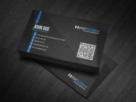 Corporate QR Code Business Card V4 by glenngoh