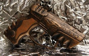 SteamPunk Cap Gun - Bronze by JohnsonArms