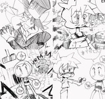 Bomberman Sketches by Tentakustar