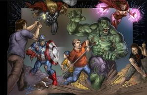 zalem mass char vs avenger 2 zombies by ashkel