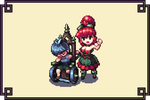 Gregory and Creya as gamesprites by Cyangmou