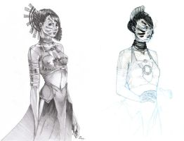Before/After Tribal Goddess by Tifaerith