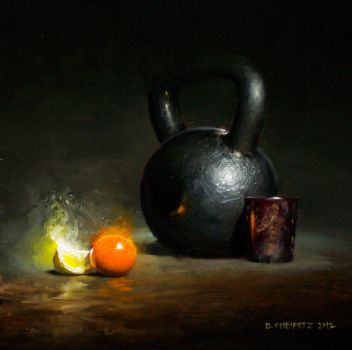 kettlebell and citrus by turningshadow