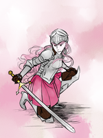 A Girl And Her Claymore by Asparagusunited