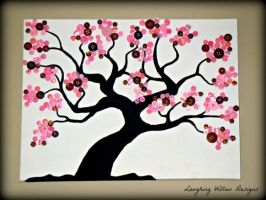 Cherry Blossom Button Tree by KespeadooksitAgain
