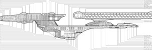 U.S.S. Excelsior Cross Section by chimera335