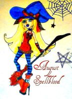 Revised and Decorated August Spellblood by XangelxofxdarknessX