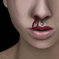 bloody nose by Jennerdstro