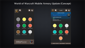 World of Warcraft Armory Update Concept by aglenn14