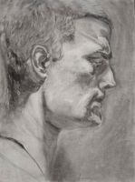 Self Portrait 2_charcoal by protoPrimus