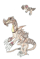 Fakemon - Slasher Fossil by UltimateRidley