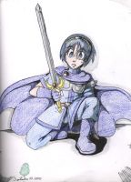 Marth and his sword by AngelicDragonElf
