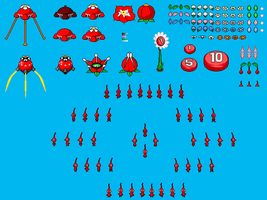 Simple Red Pikmin Sheet 2.0 by OmegaZero22XX