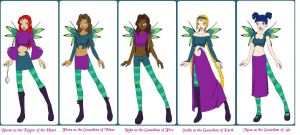 Winxs become W.I.T.C.H. by LeMeNe