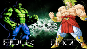 Hulk vs Broly Promo Cover by THEPRODIGYP5ART